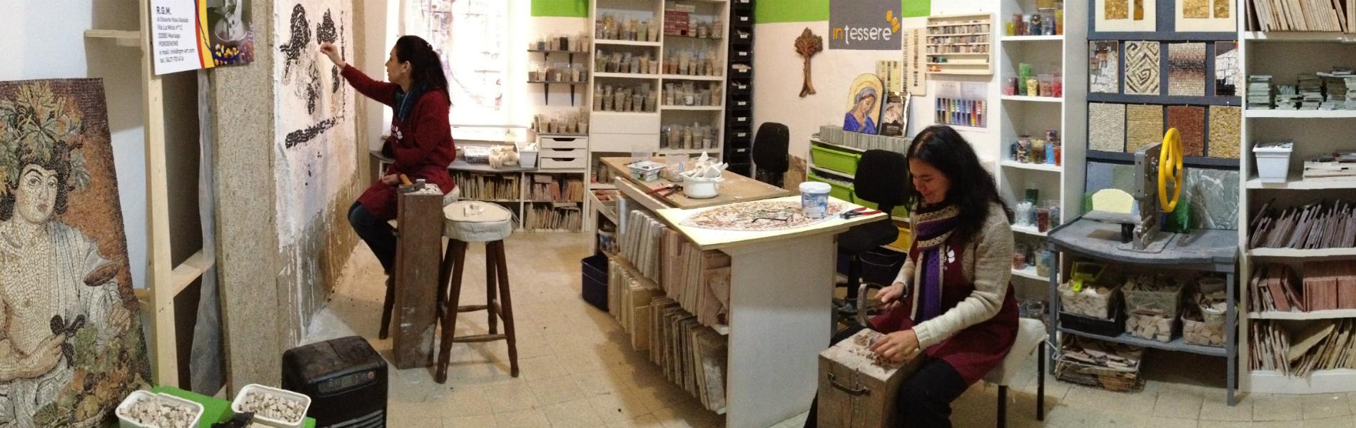 scuola per mosaicisti in tessere