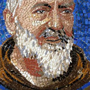 arte-sacra-padre-pio-mosaico moderno