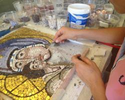 corso di mosaico bizantino Intessere