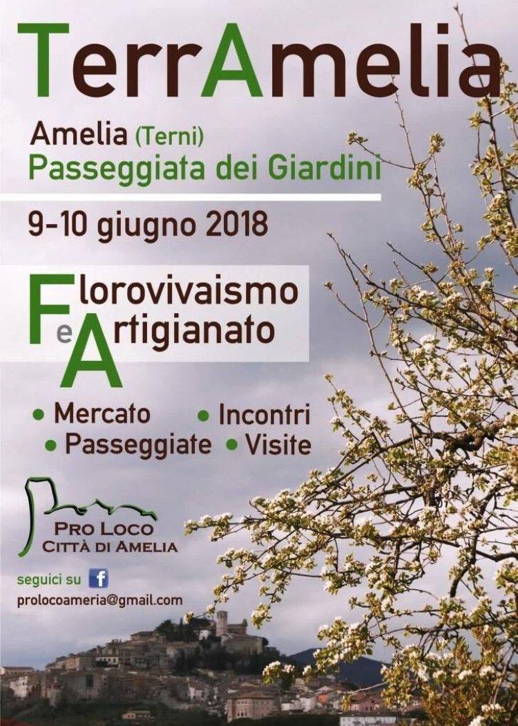 evento TerrAmelia dedicato all'artigianato umbro e al florovivaismo