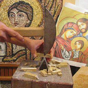 laboratorio intessere arte del mosaico artistico