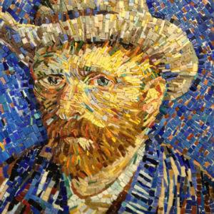 Van Gogh autoritratto mosaico moderno