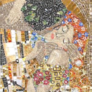 mosaico-moderno-klimt-bacio