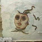 rosone con testa di medusa eseguito durante il corso di mosaico romano
