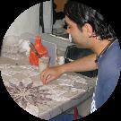 Francesco allievo del corso da mosaicista progettista