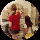 Veronica e Silvia corso da mosaicista progettista