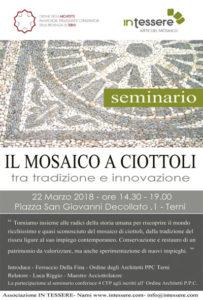 locandina seminario mosaico a ciottoli