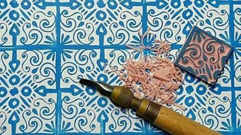 corso di decorazione della carta con matrice di In Tessere