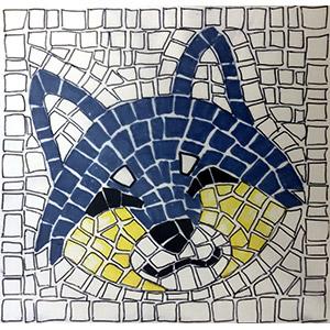 kit mosaico per bambini lupo