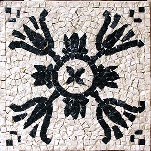 kit mosaico fai da te fiore bianco