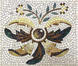 kit mosaico fai da te fiore romano