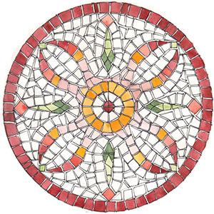 kit mosaico fai da te fiore tondo