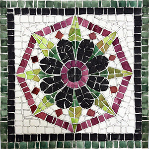 kit mosaico fai da te fiore verde