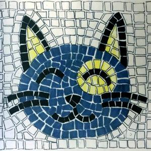 kit mosaico per bambini gatto