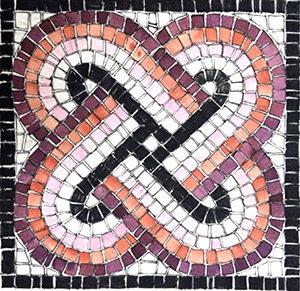 kit mosaico fai da te nodo di Salomone intessere